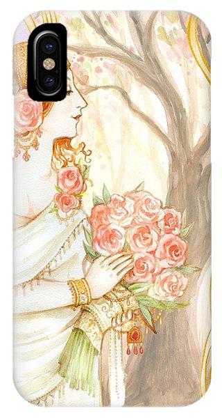 Vintage Art Nouveau Flower Lady IPhone Case