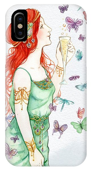 Vintage Art Nouveau Lady Party Time IPhone Case