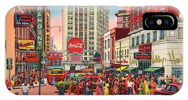 Vintage Atlanta Postcard IPhone Case