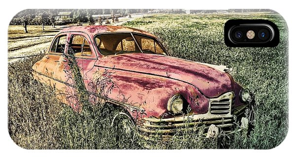 Vintage Auto In A Field IPhone Case