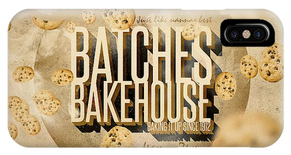 Kitchen iPhone Case - Vintage Bakery Ad - Batches Bakehouse by Jorgo Photography - Wall Art Gallery