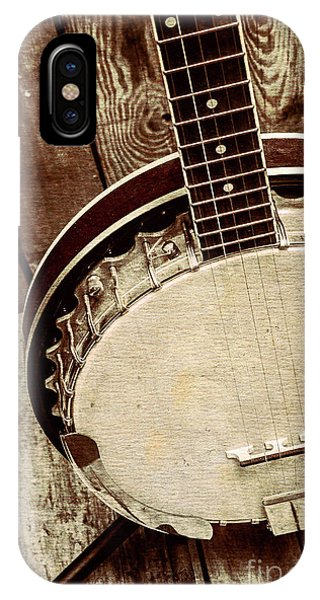 Musical iPhone Case - Vintage Banjo Barn Dance by Jorgo Photography - Wall Art Gallery