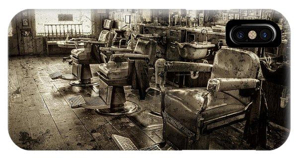 Vintage Barber Shop IPhone Case