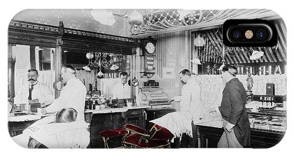 Vintage Barbershop 4 IPhone Case