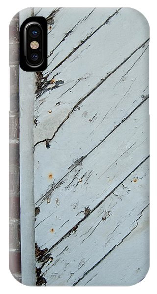 IPhone Case featuring the photograph Vintage Barn Door And Red Brick by Jani Freimann