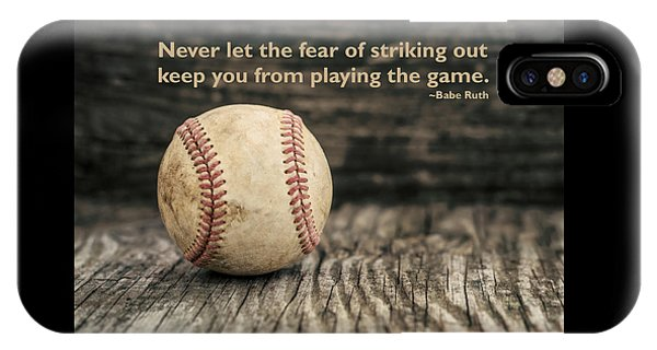 Vintage Baseball Babe Ruth Quote IPhone Case