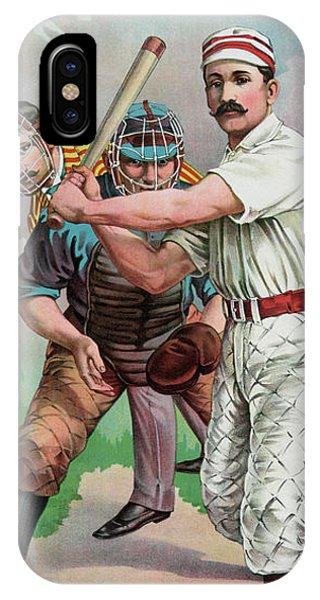 Softball iPhone Case - Vintage Baseball Card by American School