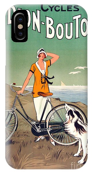 Bike iPhone X Case - Vintage Bicycle Advertising by Mindy Sommers