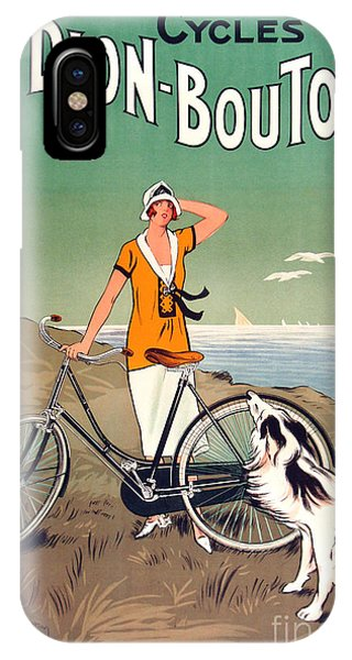 Bicycle iPhone X Case - Vintage Bicycle Advertising by Mindy Sommers