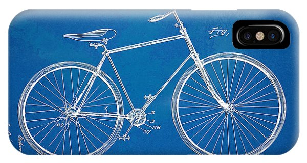 Vintage Bicycle Patent Artwork 1894 IPhone Case