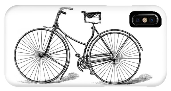 IPhone Case featuring the digital art Vintage Bike by ReInVintaged