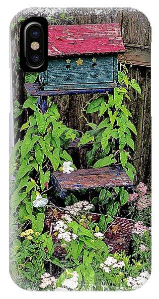 Vintage Bird House IPhone Case