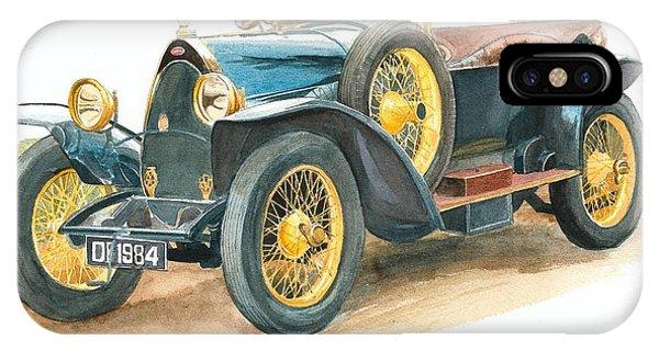 Vintage Blue Bugatti Classic Car IPhone Case