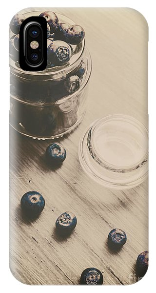 Blue Berry iPhone Case - Vintage Blueberries by Jorgo Photography - Wall Art Gallery