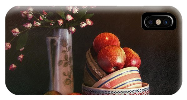 Fruit Bowl iPhone Case - Vintage Bowls With Apples by Tom Mc Nemar