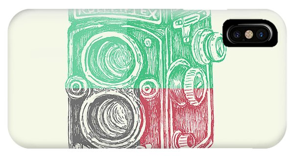 Camera iPhone Case - Vintage Camera Color by Brandi Fitzgerald