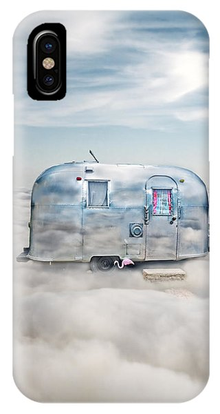 Vintage Camping Trailer In The Clouds IPhone Case