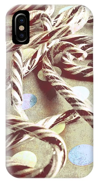 Xmas iPhone Case - Vintage Candy Canes by Jorgo Photography - Wall Art Gallery