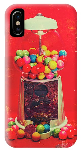 Toy Shop iPhone Case - Vintage Candy Store Gum Ball Machine by Jorgo Photography - Wall Art Gallery