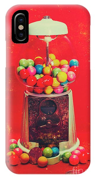 Dispenser iPhone Case - Vintage Candy Store Gum Ball Machine by Jorgo Photography - Wall Art Gallery