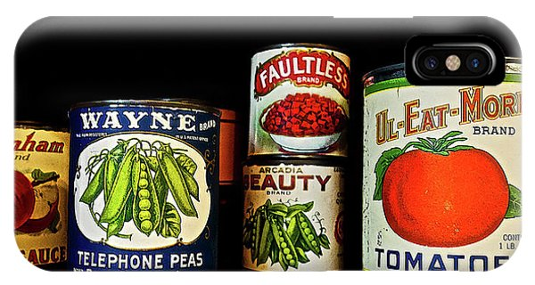 Vintage Canned Vegetables IPhone Case
