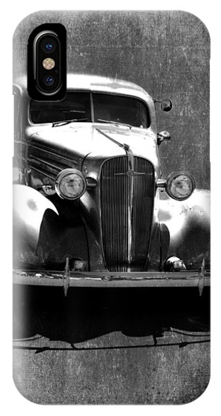 Vintage Car Art 0443 Bw IPhone Case