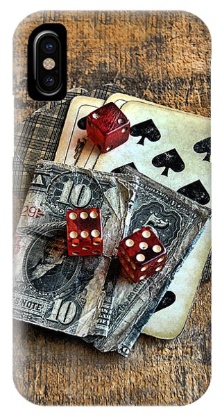 Vintage Cards Dice And Cash IPhone Case