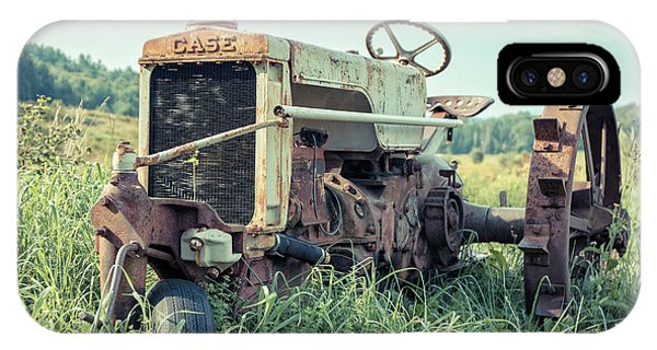 New England Barn iPhone Case - Vintage Case Farm Tractor Montpelier Vermont by Edward Fielding