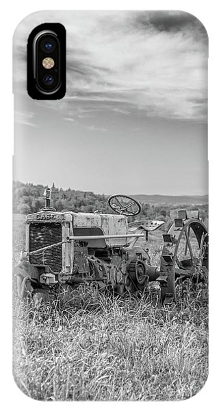 New England Barn iPhone Case - Vintage Case Tractor Montpelier Vermont by Edward Fielding