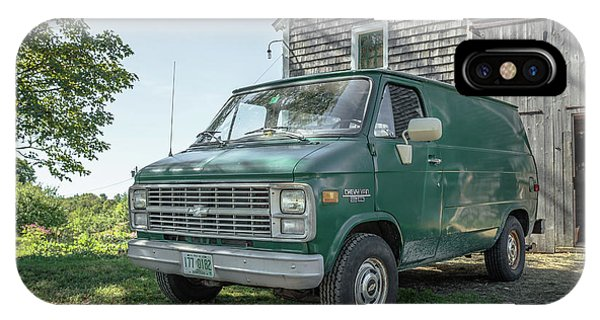 New England Barn iPhone Case - Vintage Chevy Van by Edward Fielding