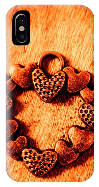 Design iPhone Case - Vintage Circle Of Hearts by Jorgo Photography - Wall Art Gallery