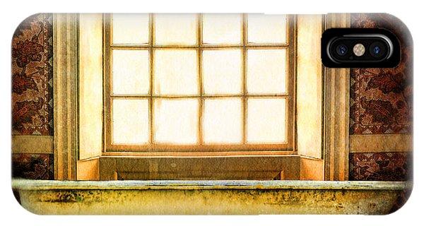 Vintage Clawfoot Bathtub By Window IPhone Case