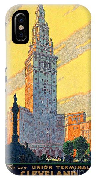 Vintage Cleveland Travel Poster IPhone Case