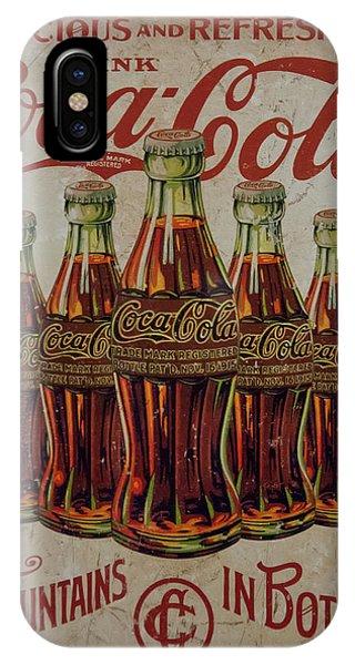 vintage Coca Cola sign IPhone Case