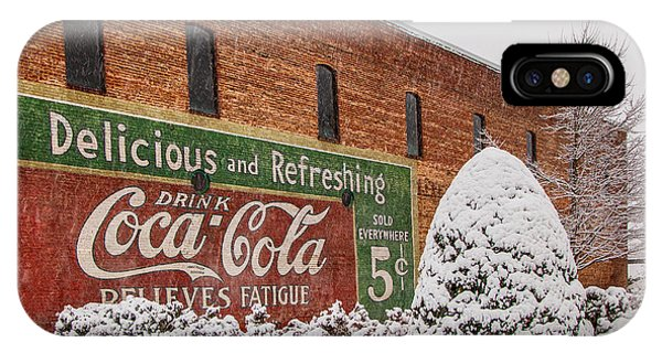 Vintage Coca Cola Sign New Albany Mississippi IPhone Case