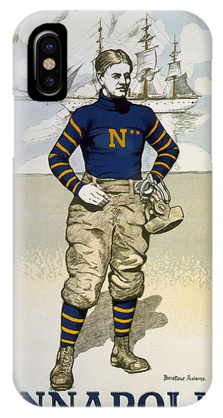 Naval Academy iPhone Case - Vintage College Football Annapolis by Edward Fielding