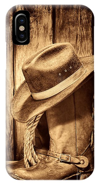 Vintage Cowboy Boots IPhone Case