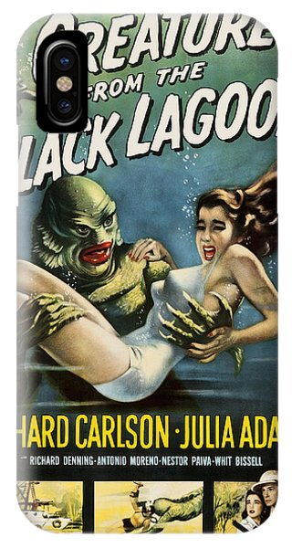 IPhone Case featuring the digital art Vintage Creature From The Black Lagoon Poster by Joy McKenzie