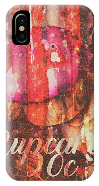 Icing iPhone Case - Vintage Cupcake Tin Sign by Jorgo Photography - Wall Art Gallery