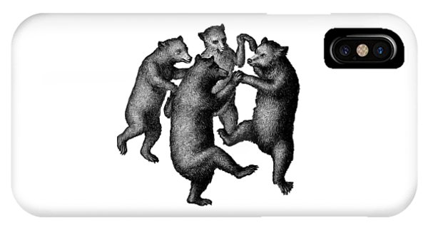 Vintage Dancing Bears IPhone Case