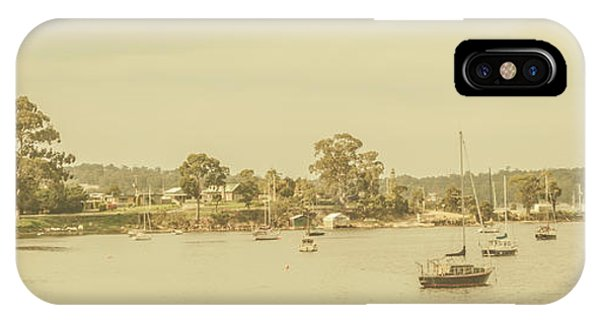 Nautical iPhone Case - Vintage Dover Harbour Tasmania by Jorgo Photography - Wall Art Gallery