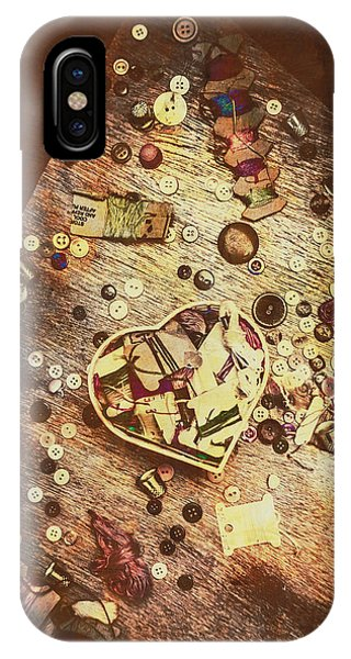 Textile Design iPhone Case - Vintage Dressmakers Table by Jorgo Photography - Wall Art Gallery