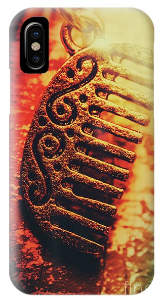 Stylish iPhone Case - Vintage Egyptian Gold Comb by Jorgo Photography - Wall Art Gallery