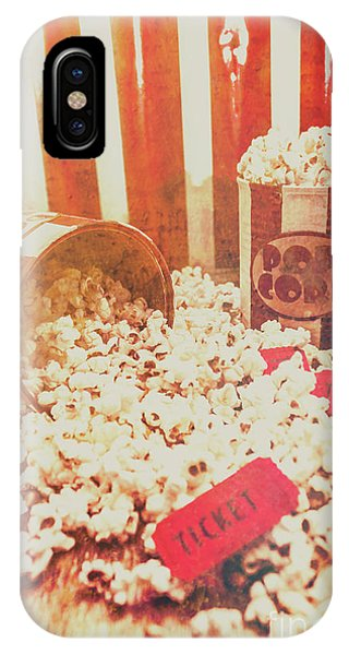 Movie iPhone Case - Vintage Entertainment Background by Jorgo Photography - Wall Art Gallery