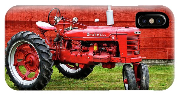 Vintage Farmall Tractor With Barnwood IPhone Case