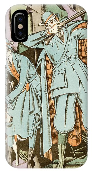 Shooting iPhone Case - Vintage Fashion Plate Twenties Sporting Outfits by German School