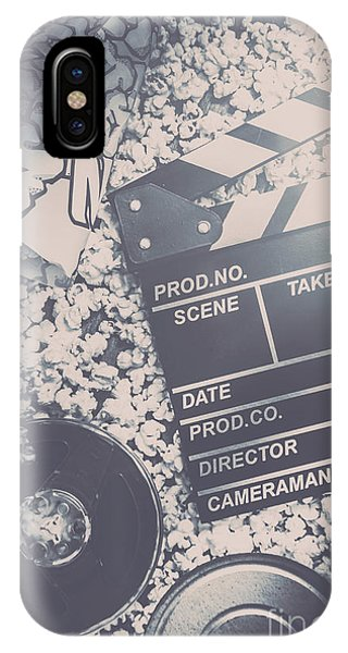 Cinema iPhone Case - Vintage Film Production by Jorgo Photography - Wall Art Gallery