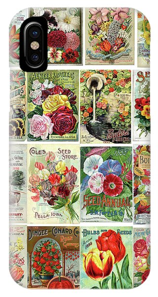 Vintage Flower Seed Packets 1 IPhone Case