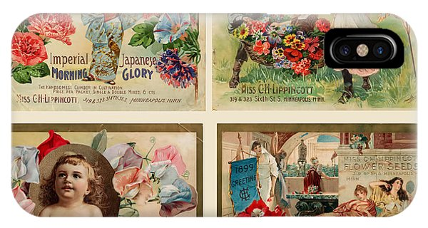 Vintage Flower Seed Packets IPhone Case