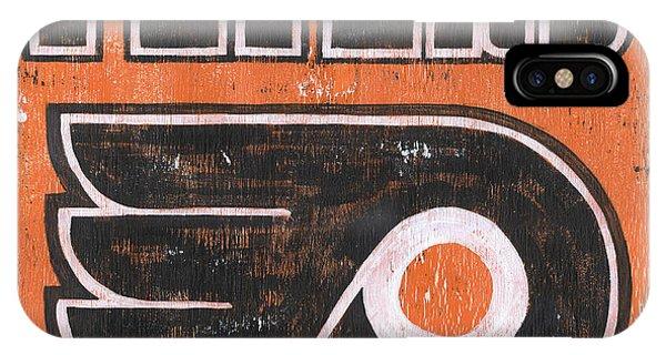 Hockey iPhone Case - Vintage Flyers Sign by Debbie DeWitt